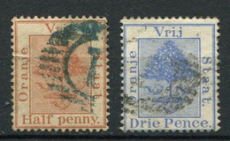 Oranje - Freistaat Nr.10 + 12        O  Used        (001) - Oranje-Freistaat (1868-1909)