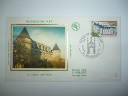 Enveloppe Ier Jour FDC Soie 1975  Ch^teau De Rochechouart  Oblit. PJ Rochechouart - 1970-1979