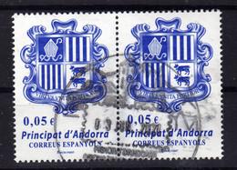 ANDORRE Andorra Esp. Blason 2 Val. Obl - Used Stamps