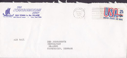 United States THE SCANDINAVIAN SHOP (Wiking Ship Cachet) DALLAS, TX 1972 Cover Brief Denmark - Covers & Documents