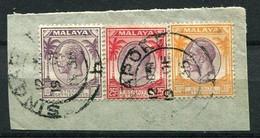 Straits Settlements Nr.198, 200 + 201 Biefstück        O  Used        (001) - Straits Settlements