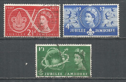 Great Britain 1957 Year Used Stamps - Used Stamps