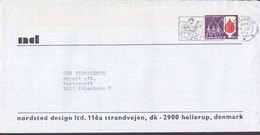 Denmark NORDSTED DESIGN Slogan Flamme HELLERUP 1974 Cover Brief Blood Donor Blutspende Cz. Slania Stamp - Briefe U. Dokumente