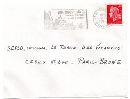 FLORE = 71 BOURBON-LANCY 1968 = FLAMME Codée = SECAP Illustrée ROSES ' Station Thermale / Tourisme' - Thermalisme