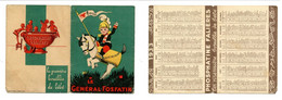 Calendrier 1933 - Phosphatine Falières / Le Général Fosfatin - Petit Format : 1941-60