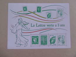 FRANCE 2014   F4908  * *    BLOC   LA LETTRE VERTE A 5 ANS  LUXE - Ungebraucht