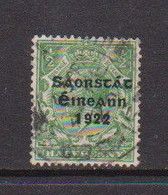 IRELAND    1922    1/2d  Green     Printed  By  Thom    USED - Used Stamps