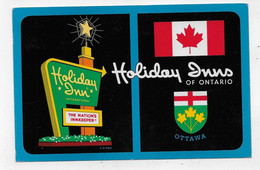 (RECTO / VERSO) OTTAWA EN 1967 - HOLIDAY INNS OF ONTARIO - BEAU TIMBRE - FORMAT CPA - Ottawa