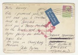 Hong Kong Postcard Posted 1987 Retourned B211015 - Briefe U. Dokumente