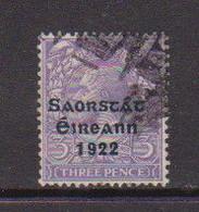 IRELAND    1922    3d  Bluish  Violet     Printed  By  Thom    USED - Used Stamps