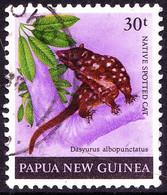 PAPUA NEW GUINEA 1980 QEII 30t Multicoloured Mammals - Native Spotted Cat SG398 FU - Papua New Guinea