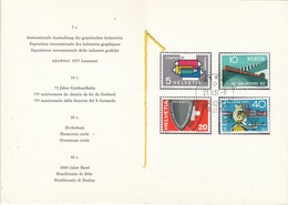 Switzerland 1957 Commemoratives 4v Used In Faltblatt Ca Bern Ausgabetag (54150) - Cartas