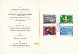Switzerland 1959 Commemoratives 4v In Faltblatt Ca Bern Ausgabetag (54151) - Cartas