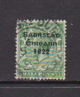 IRELAND    1922    1/2d  Green    Printed  By  Harrison    USED - Used Stamps