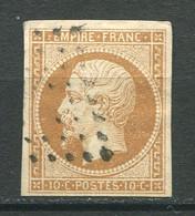 22673 FRANCE N°13Ba° 10c. Bistre-brun Type II  1860 TB - 1853-1860 Napoléon III.
