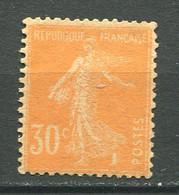 22674 FRANCE N°141c** 30c. Orange Semeuse Papier G.C  1907 TB - Unused Stamps