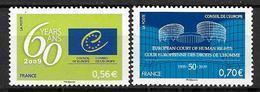 France 2009 Service N° 142/143 Neufs Conseil De L'Europe à La Faciale - Ungebraucht