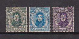 IRELAND    1929    Catholic  Centenary    Set  Of  3    USED - Used Stamps