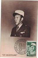 Algérie - Sidi-Bel-Abbes - Camerone - Légion étrangère - Carte Maximum - Un Légionnaire - 30 Avril 1954 - Maximum Cards