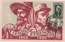 Algérie - Sidi-Bel-Abbes - Camerone - Légion étrangère 1863-1950 - Carte Maximum - 30 Avril 1950 - Maximum Cards