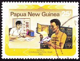 PAPUA NEW GUINEA 1983 25t Multicoloured World Communications Year SG469 FU - Papua New Guinea