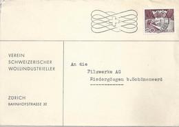 """Motiv Brief  """"Verein Schweizer Wollindustrieller, Zürich""""            1950 - Cartas"""