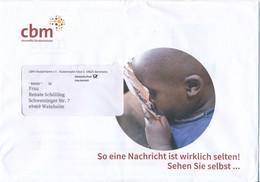 BRD / Bund Bensheim Dialogpost 2021 CBM Christoffel Blindenmission Kind Afrika Blumen Dahlie - Briefe U. Dokumente