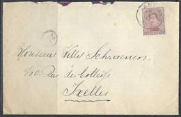 N°140. 20c Paars - Op Brief Stempel 10/06/1922 Antoing >> Ixelles - Bruxelles. - Covers & Documents