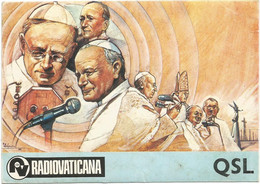 AA2939 Cartolina QSL - RV Radio Vaticana Radiovaticana - Illustrazione Illustration / Non Viaggiata - Radio