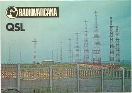 AA2940 Cartolina QSL - RV Radio Vaticana Radiovaticana - Antenne / Non Viaggiata - Radio