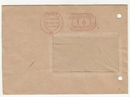 Berlin Meter Stamp On Letter Cover Posted 1954 B211015 - Briefe U. Dokumente