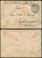 Del140 - Allemagne  Lettre Feldpost De Mons à Huckeswagen 1916 - Other Covers