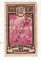 Océanie : Spécimen : No 71- 65c.Sépia Et Lilas-rose - Used Stamps