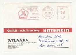 Atlanta Meter Stamp On Company Postcard Posted 1986 B211015 - Briefe U. Dokumente