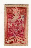 Océanie : Spécimen : No 72- 90c. Rouge Et Lilas-rose - Sur Fragement - Used Stamps