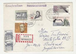 Germany Multifranked Letter Cover Posted Registered 1984 Offenburg To Beograd B211015 - Briefe U. Dokumente