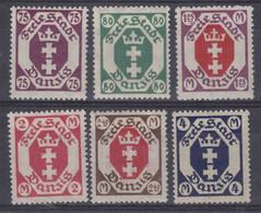 Danzig MiNr. 93-98 ** - Danzig