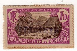 Océanie : Spécimen : No 73 - 1f.10 Violet Et Sépia - Sur Fragement - Used Stamps
