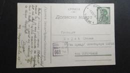 Deutsche Besetzung Serbien Mi. GA Karte P 5 Mit Zensur Am 9.12.1943 Gelaufen - Besetzungen 1938-45