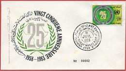 MAROC 1983 FDC Enveloppe Oblitération 1er JOUR Y&T N° 946 - Marokko (1956-...)
