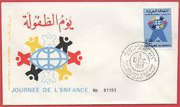 MAROC 1983 FDC Enveloppe Oblitération 1er JOUR Y&T N° 957 - Marokko (1956-...)