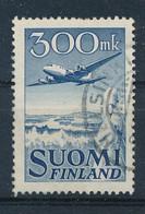 Finnland 300 Mk Gest. Flugzeug Winter Landschaft - Gebraucht