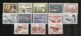 GROENLAND. Année 1980-1981-1982.  13 Timbres Neufs **  Côte 31 Euro - Ungebraucht