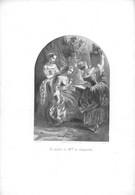 P-21-BBT-DOCS-GF-637 :  GRAVURE. LA TOILETTE DE MADEMOISELLE DE CARDOVILLE. JEUNES FILLES - Prints & Engravings