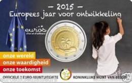 Belgie 2015  2 Euro Comm  Vlaamse Versie  Europees Jaar Van De Ontwikkeling In Coincard !! - Belgien