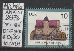 """1985 - DDR -:SM A. Satz """"Burgen Der DDR - B. Hohnstein""""  10 Pfg. Mehrf - O Gestempelt - S.Scan (2976o 01-02   Ddr) - Gebraucht"""