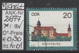 "1985 - DDR -:SM A. Satz ""Burgen Der DDR - B. Rochsburg""  20 Pfg. Mehrf - O Gestempelt - S.Scan (2977o 01-02   Ddr) - Gebraucht"