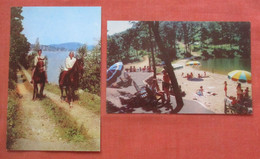 Lot Of 2 Cards.   Horseback Riding   & Eagles Terrace.  Lake Mohawk  Sparta  New Jersey >      Ref 5234 - Unclassified