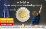 Belgie 2015  2 Euro Comm  Franse Versie  Développement Européenne  In Coincart   Extreme Rare !!! UNC - Belgien