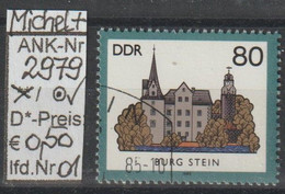 "1985 - DDR - SM A. Satz ""Burgen Der DDR - B. Stein""  80 Pfg. Mehrf - O Gestempelt - S.Scan (2979o 01-02   Ddr) - Gebraucht"